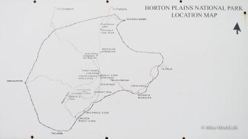Horton Plains National Park Sri Lanka - Location Map