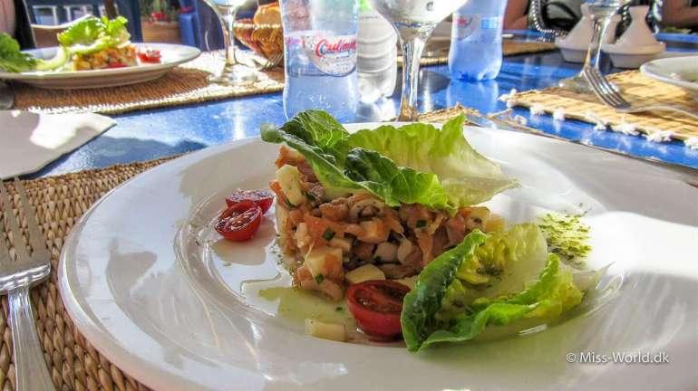 Taros Restaurant Essaouira Morocco Food Octopus.