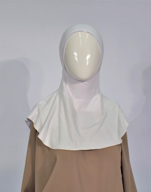 White Hijab Bonnet