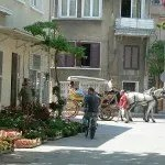 Horse Carriage and Street Scene on Princes Island Istanbul Turkey