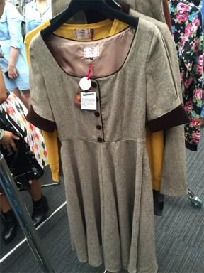 Brown Tweed swing style dress