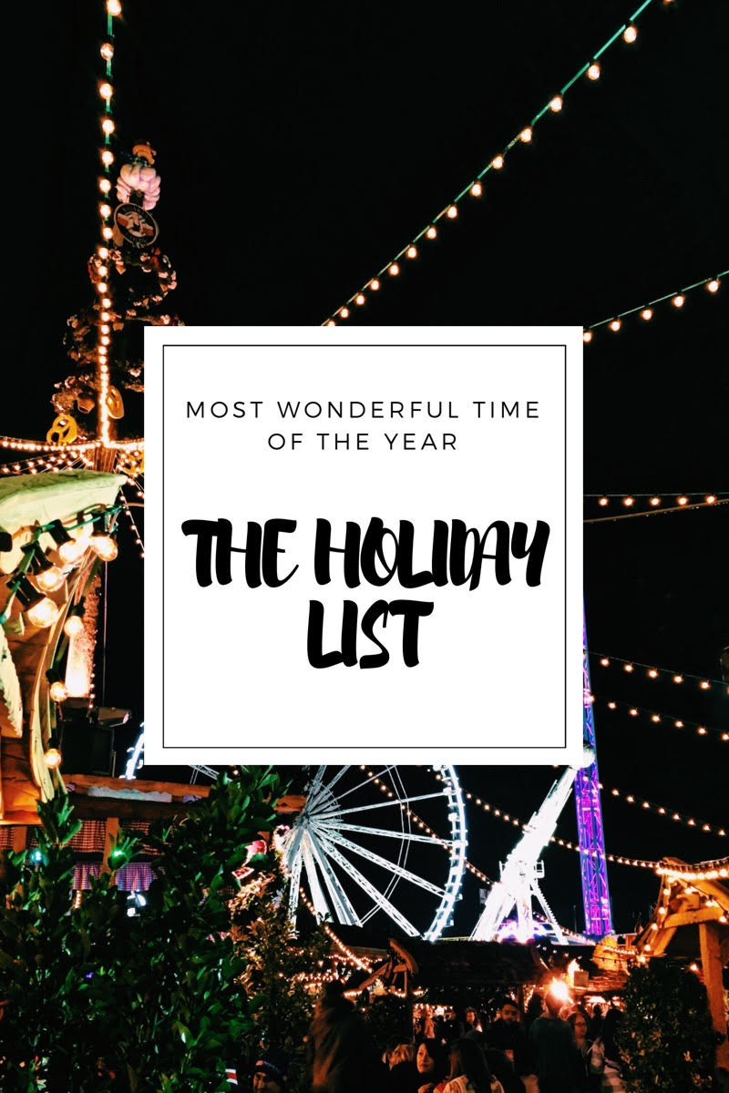 Get ready for Holidays with me - The Magical Holidays List