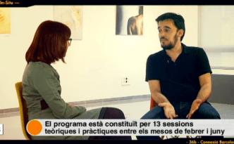 Samuel Aranda, al Centre Cultural Albareda, on explica com neix i quines són les claus d'aquest projecte de fotografia documental. #ObjectiuBCN