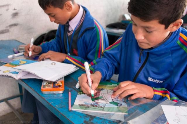 © Clara.Go - Pastic and cartoons a Martyrs' Memorial School - Class6 & 7- Kathmandu