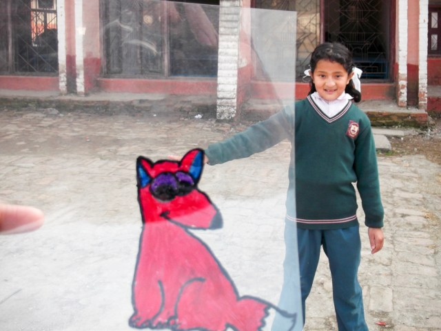 © Clara Go - Plastic and cartoons a Martyrs' Memorial School - Class4 & 5- Kathmandu