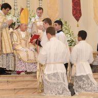 Futuros diáconos diante do Pontífice