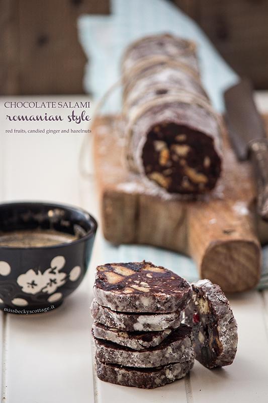 chocolate salami hazelnuts