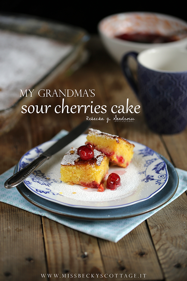 grandma sour cherries cake
