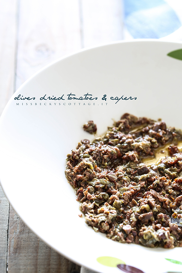 olives capers dried tomatoes