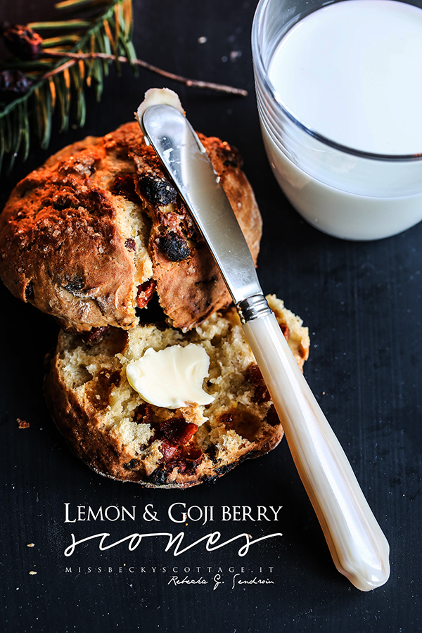 lemon and goji berry scones