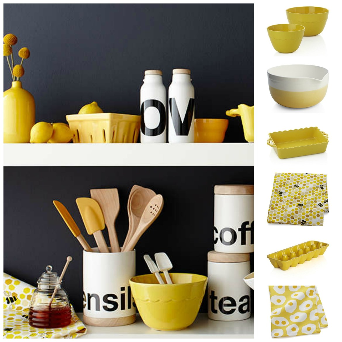 crate and barrel Collage