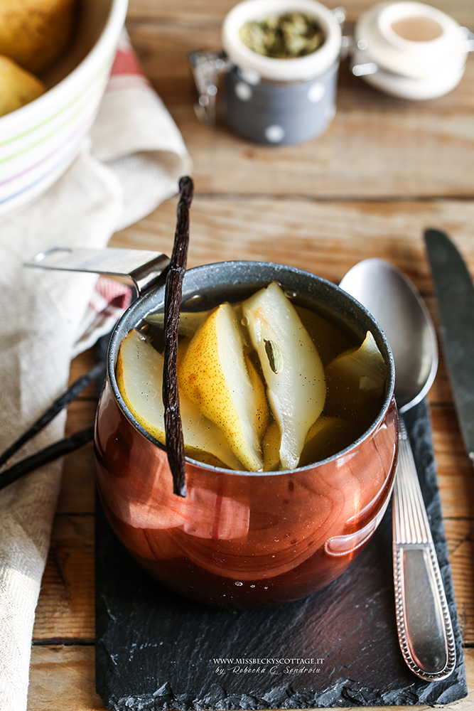 spiced pear compote