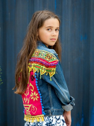 vintage levis levi kidswear girls girl kid gypsy gypsygirls gypsykids colorful edgy pink ethnic boho bohemian bohofashion