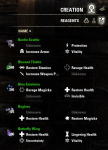 Reagents List