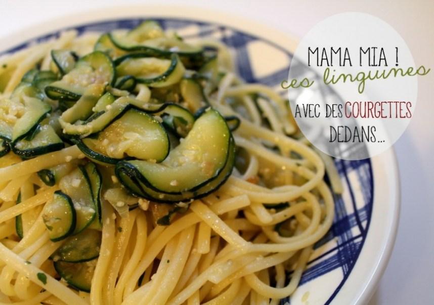 Linguines aux courgettes - Cuisine italienne - Cuisine étudiante - Recette - Miss Blemish