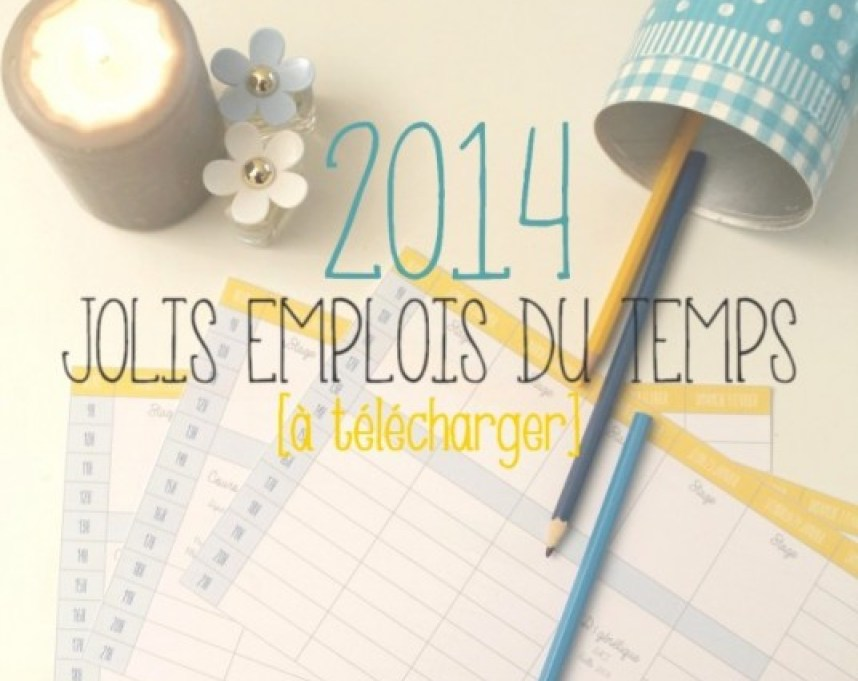 Des emplois du temps malins à télécharger - Vie professionnelle - Organisation - Miss Blemish