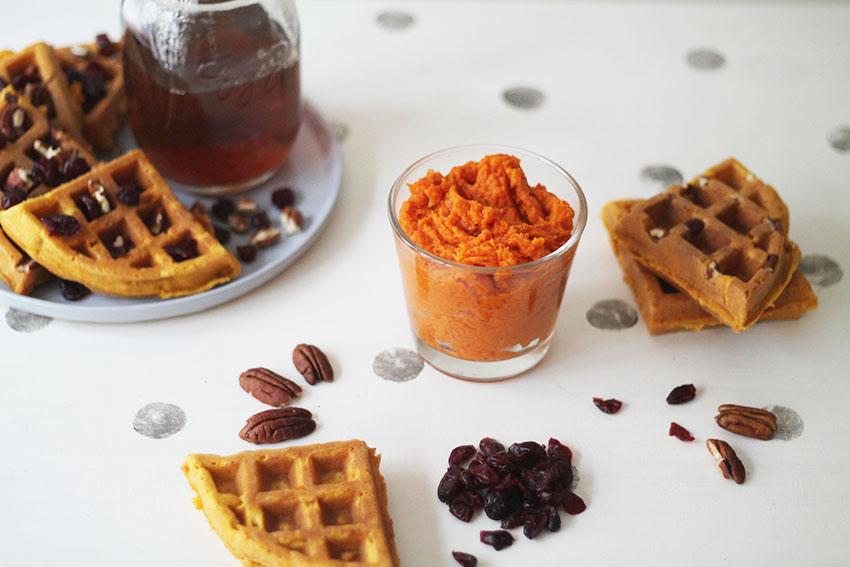Pumpkin waffles, lactose et gluten free - Cuisine saine - New York - Miss Blemish