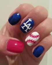 la dodgers baseball nails