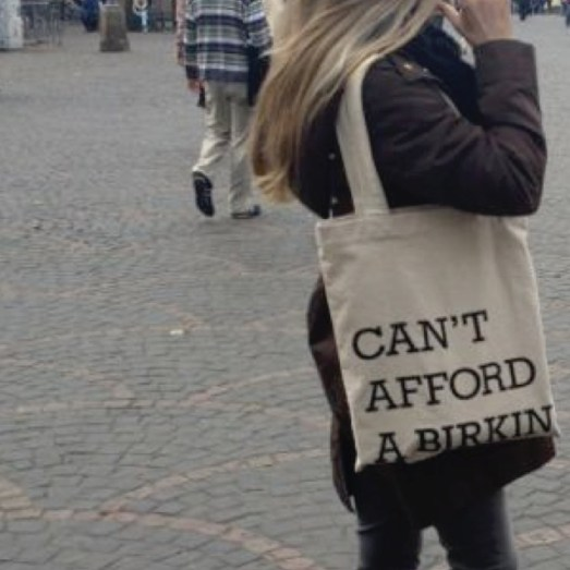 cant afford a  birkin bag jutebeutel