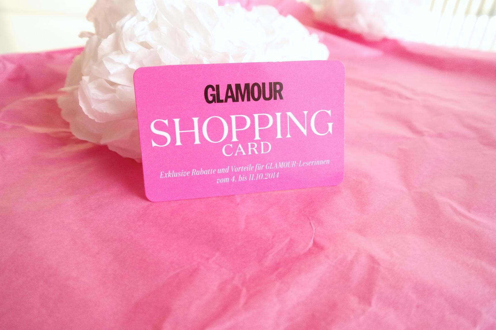 Glamour Shopping Week Card