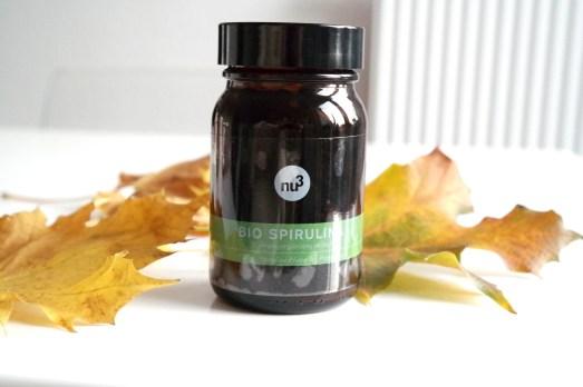 Herbstfit Wetter Pflege Beautyblog Spirulina Algen Nahrungsergänzung Blog nu3