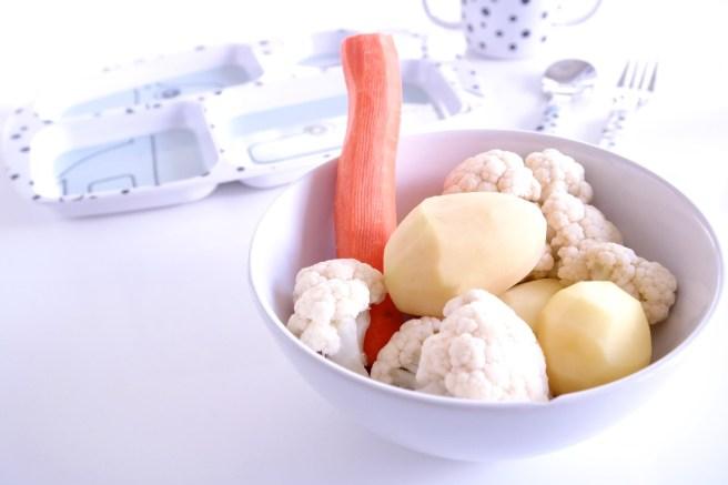 Babyessen im zweiten Jahr Abendessen Mittagessen Avent Damfpgarer Kartoffeln Missbonnebonne