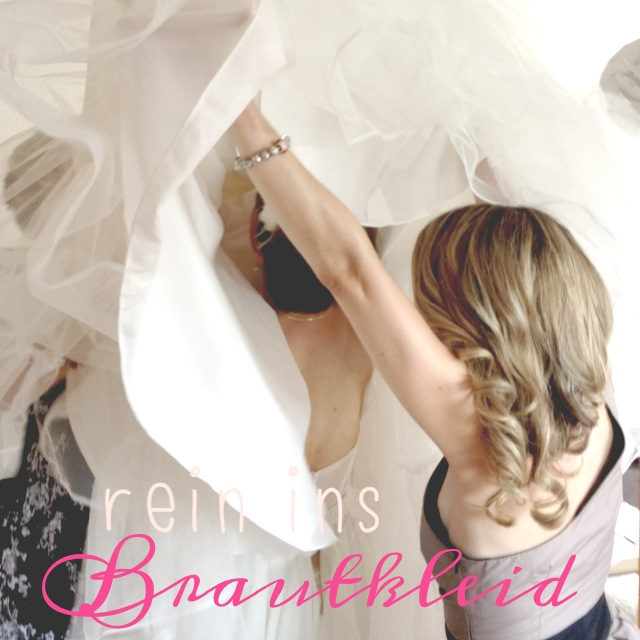 Hochzeit Styling Trauzeugin Brautkleid
