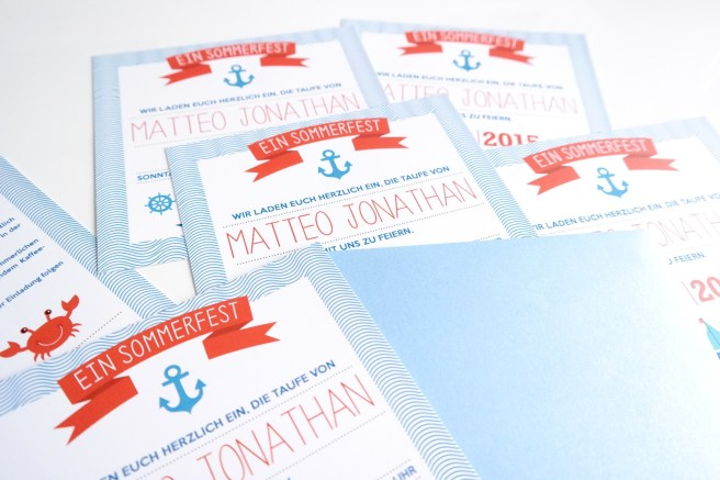 Taufe Einladung kreativ maritim Anker sommerfest gartenparty