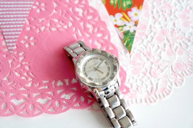 Sommerhighlights Uhr Wasserfest Karl Lagerfeld Armbanduhr Damenuhr Silber Valmano