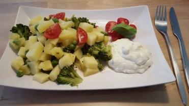 Kartoffel-Broccoli-Erbsen mit Quark für Mama