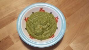 Spinatbrei babybrei grün kind, baby beikost rezept
