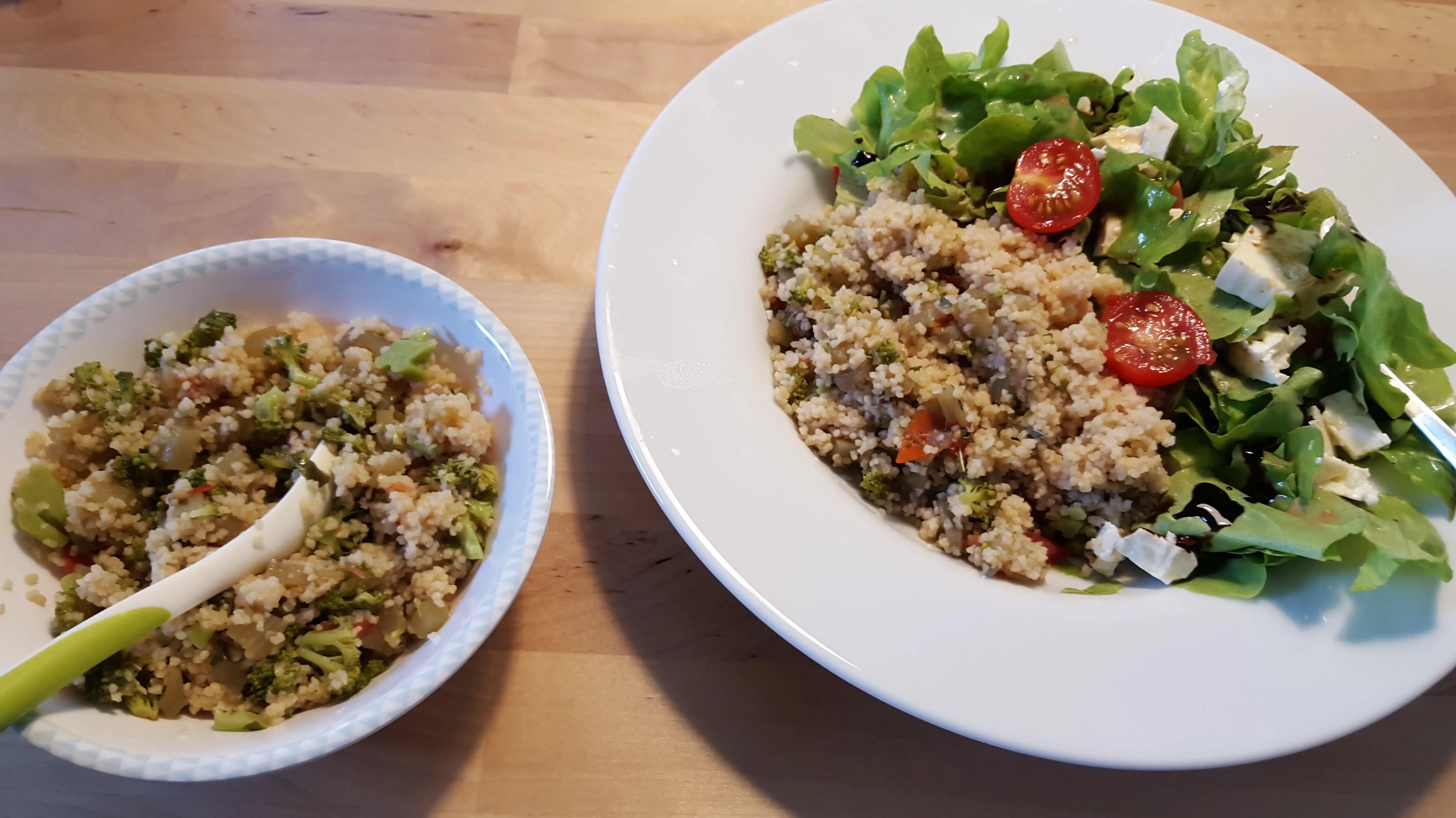 Couscous mit Gemüse – Rezept für Mama und Baby im 11. Monat