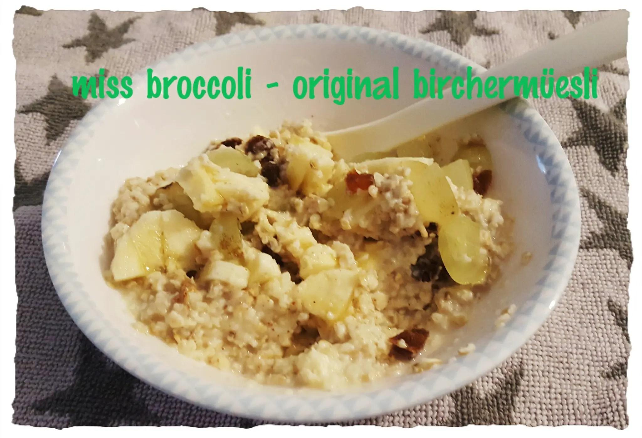 Birchermüesli – das Original und die Gemüse-Variante