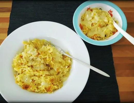 Rösti mit Sauerkraut und Käse, Rezept für Kinder und Mama