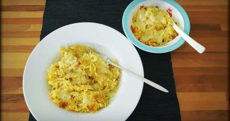 Winterrezept: Sauerkraut-Kartoffel-Rösti mit Käse überbacken