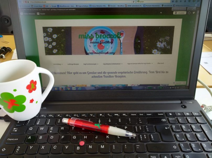 1 Jahr Blog - Miss Broccoli - Laptop