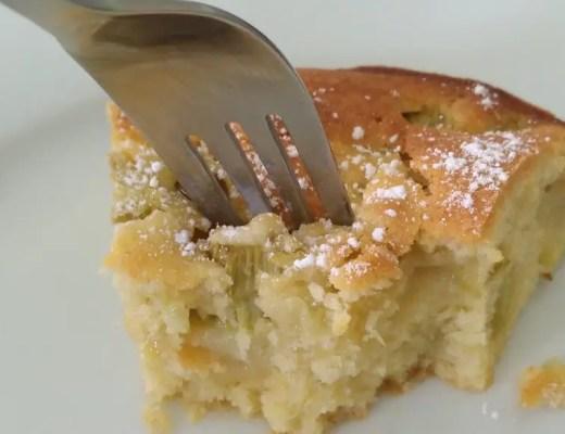 Rhabarber-Kuchen mit Vanille