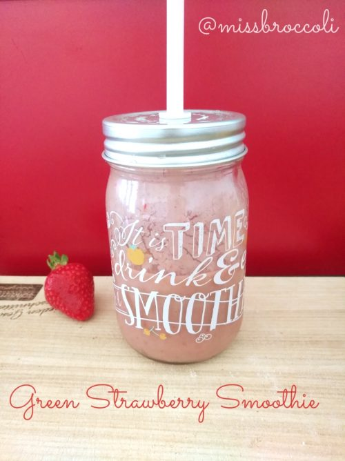 green strawberry smoothie