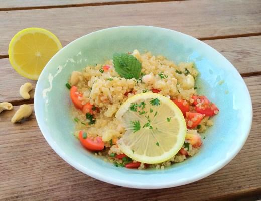 Zitronen-Quinoa mit Cashews