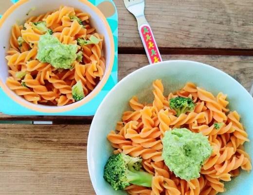 Linsenpasta im Test mit einem Broccoli Pesto Kinderteller, Brokkoli
