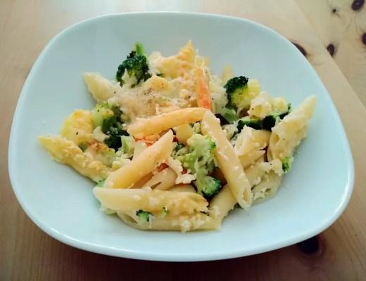 Auflauf aus Pasta- und Gemüse Resten foodwaste rezept