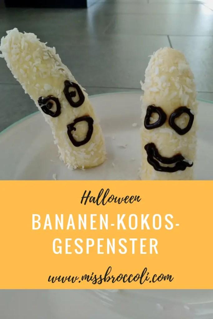 Bananen-Kokosraspel-Gespenster für Halloween