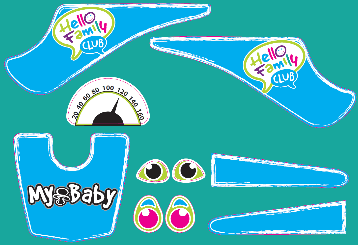 Bobby car - Kleber in blau