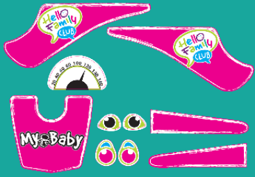 Bobby car - Kleber in pink