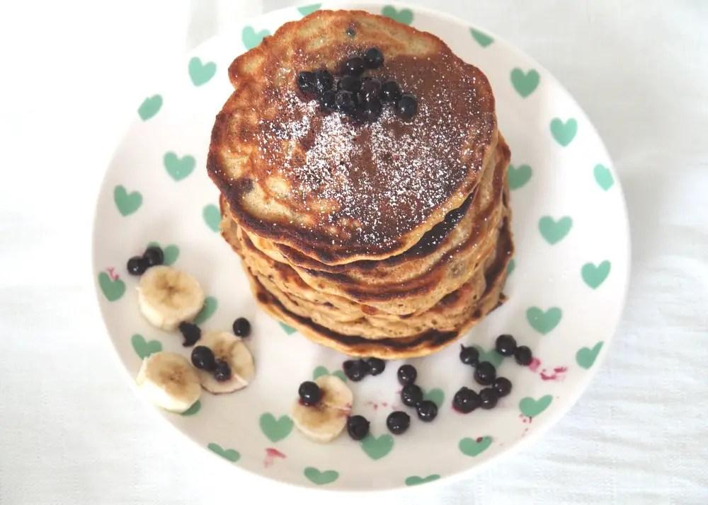 Dinkel Pancakes Karotte Rezept Kinder Familie Ostern