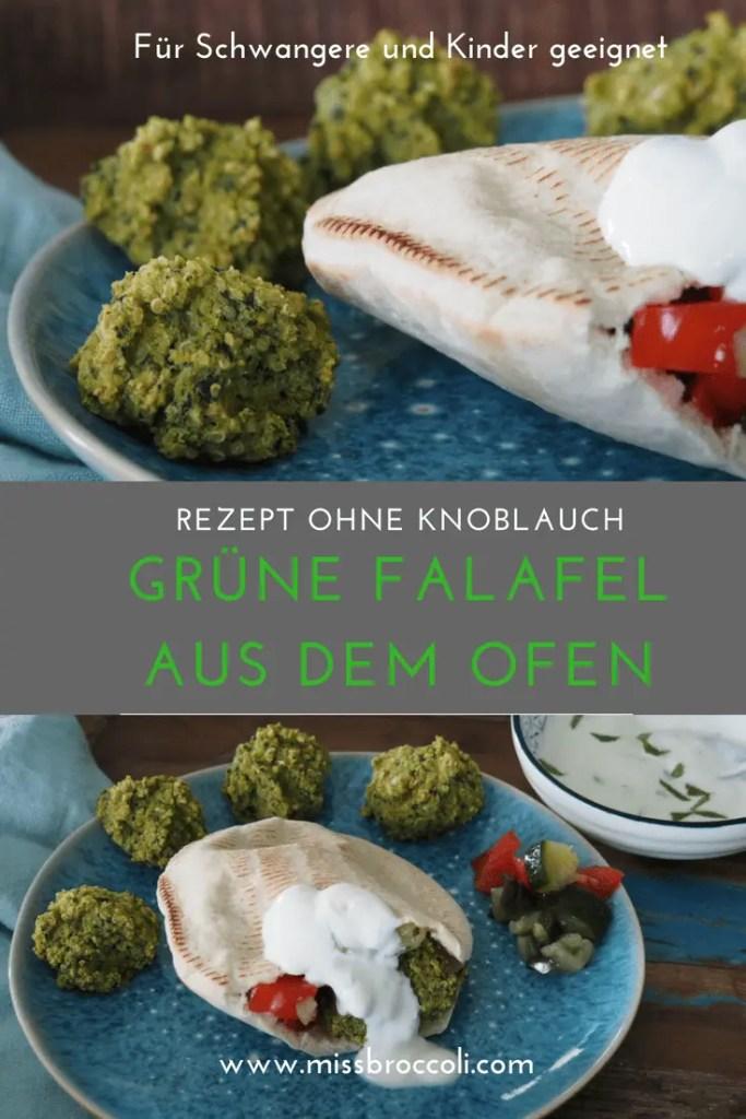 falafel, ofen, rezept, grün, ohne knoblauch, pita, schwanger, kinder, familie, minzjoghurt