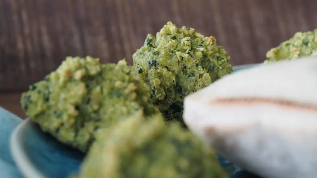 Falafel aus dem Ofen rezept, grün spinat, familie, kinder, schwanger