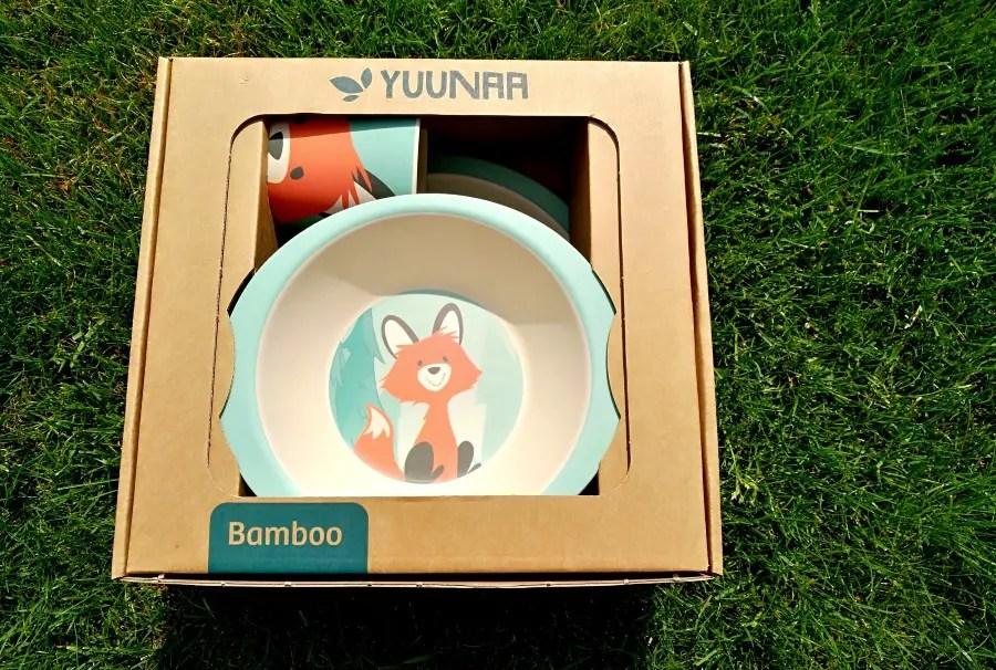 yuunaa, kindergeschirr, verlosung, fuchs, kinderteller, kinderbecher, bambusgeschirr, bambus