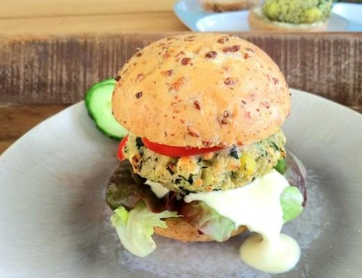 Quinoa Broccoli Burger rezept vegan pattie familie schwanger vegan