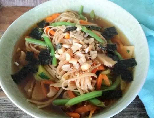 soba nudelsuppe vegan vegetarisch rezept shiitake einfach schwanger kinder asiatisch japanisch
